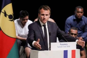Emmanuel Macron en Nouvelle Calédonie