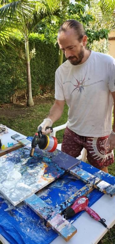 Yannick Pignot, peintre en immersion